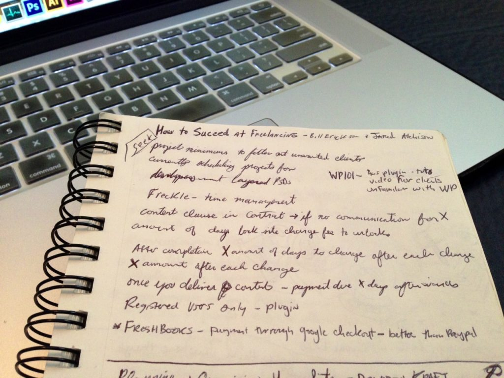 My scribblings from Bill & Jared's presentation.