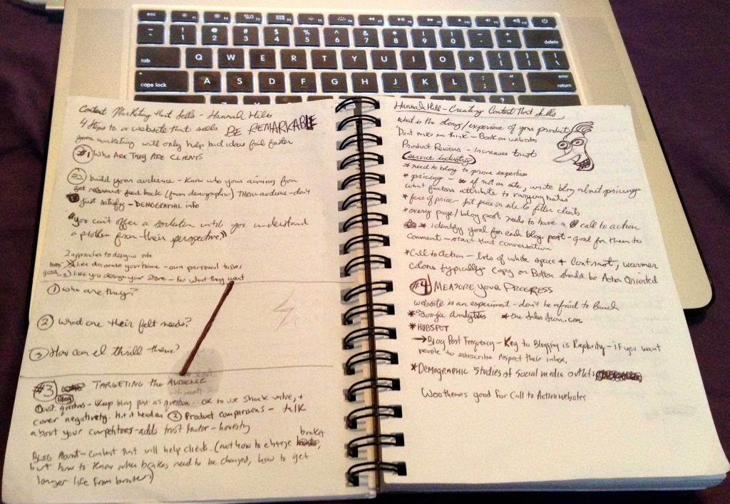 My notes from Hannah Hill's presentation.